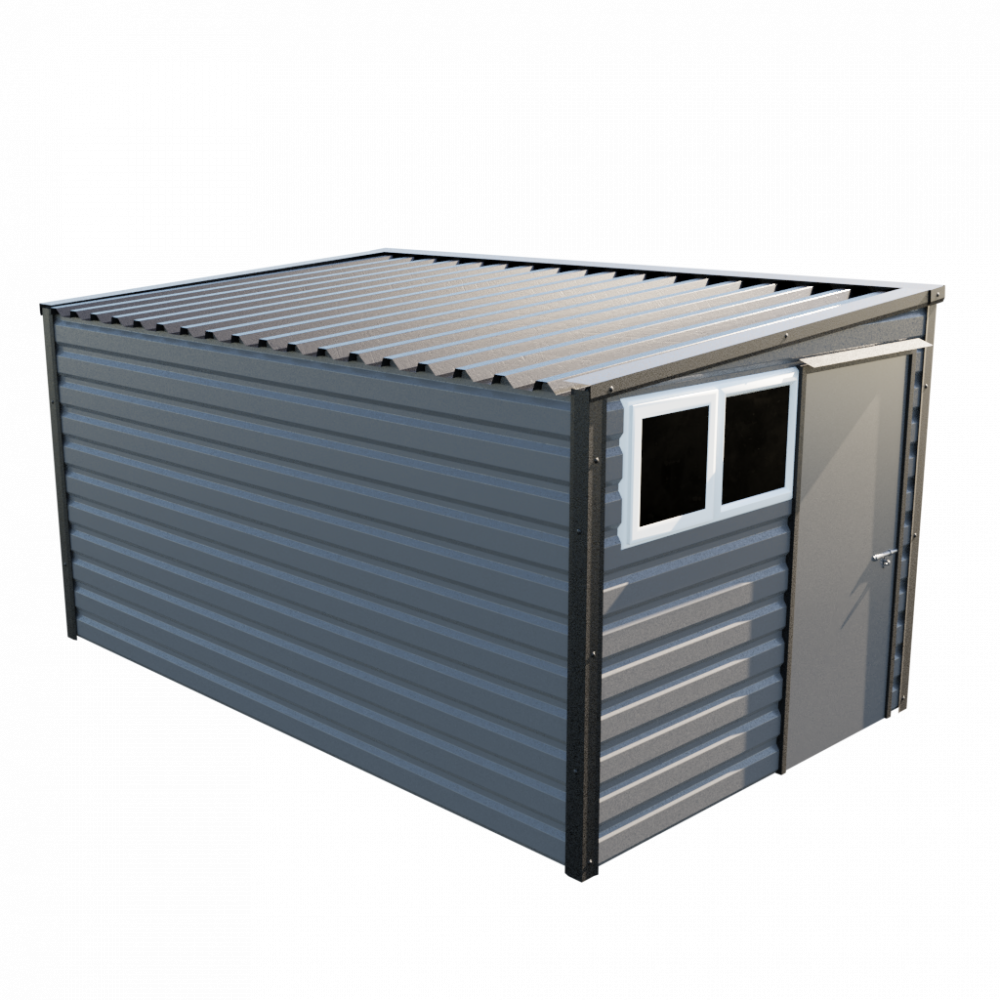 """8' x 13'6"""" Pent Shed - Anthracite"""