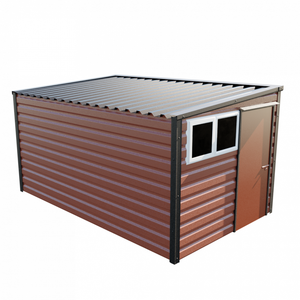 "8' x 13'6"" Pent Shed - Terracotta"