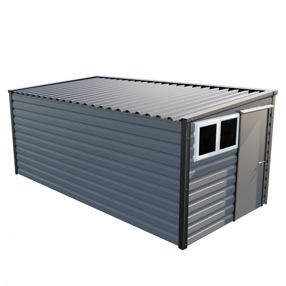 "8' x 16'9"" Pent Shed - Anthracite"