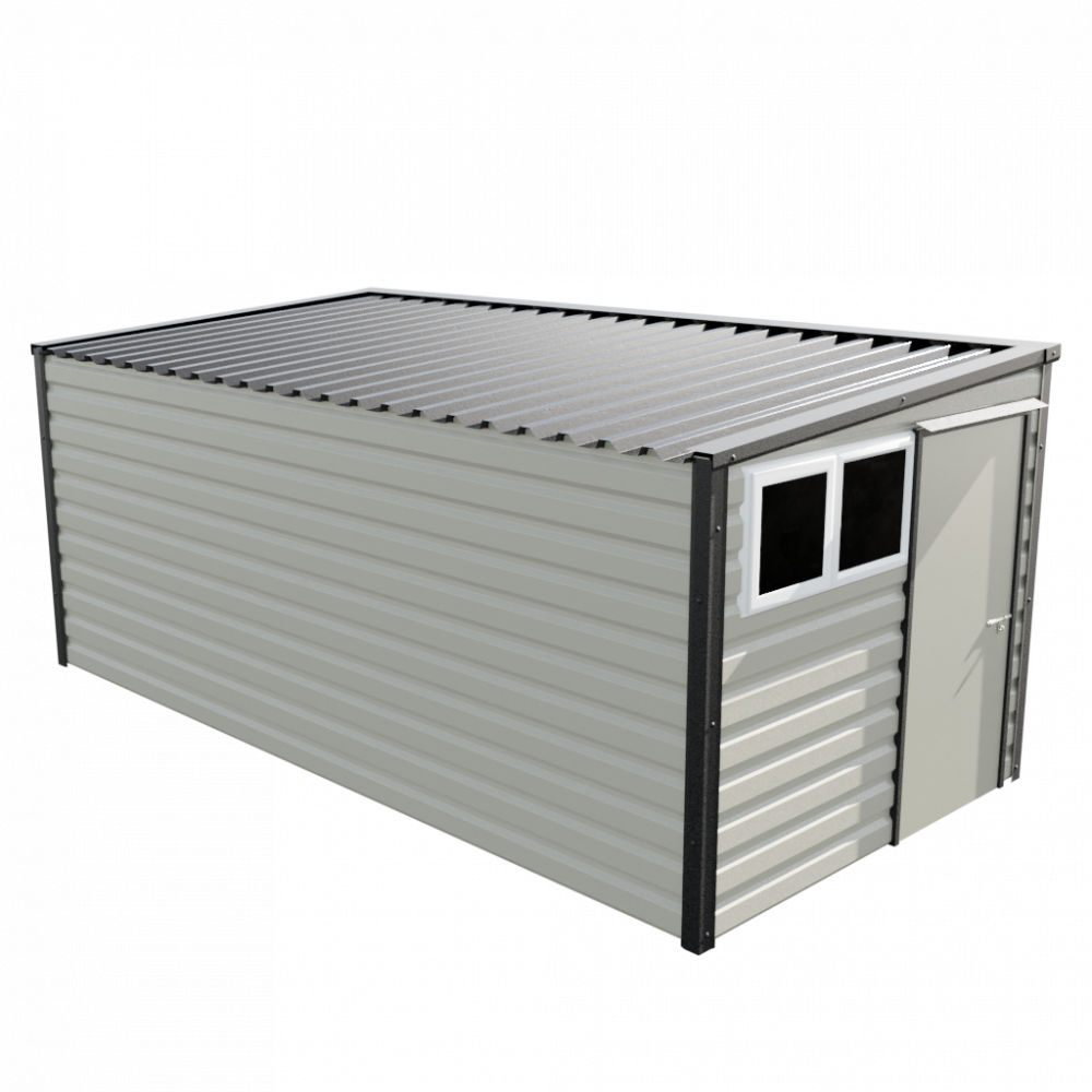 "8' x 16'9"" Pent Shed - Goosewing Grey"