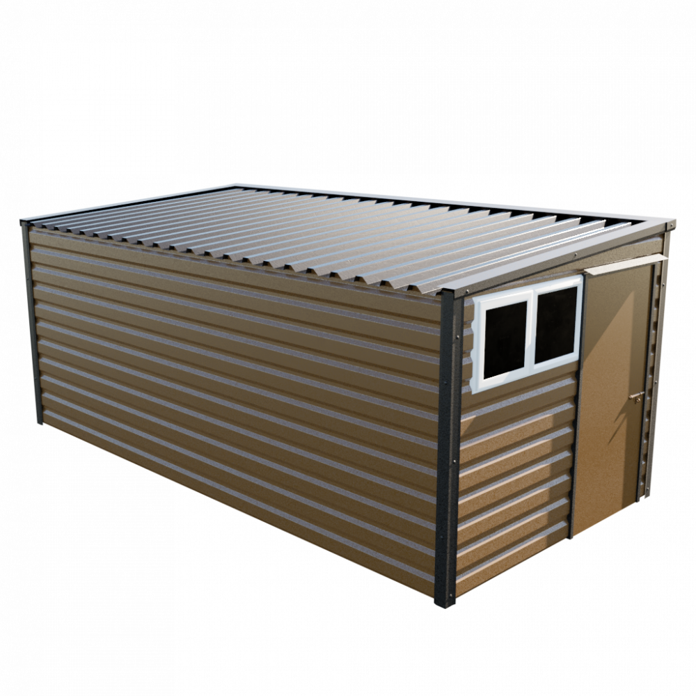 "8' x 16'9"" Pent Shed - Vandyke Brown"