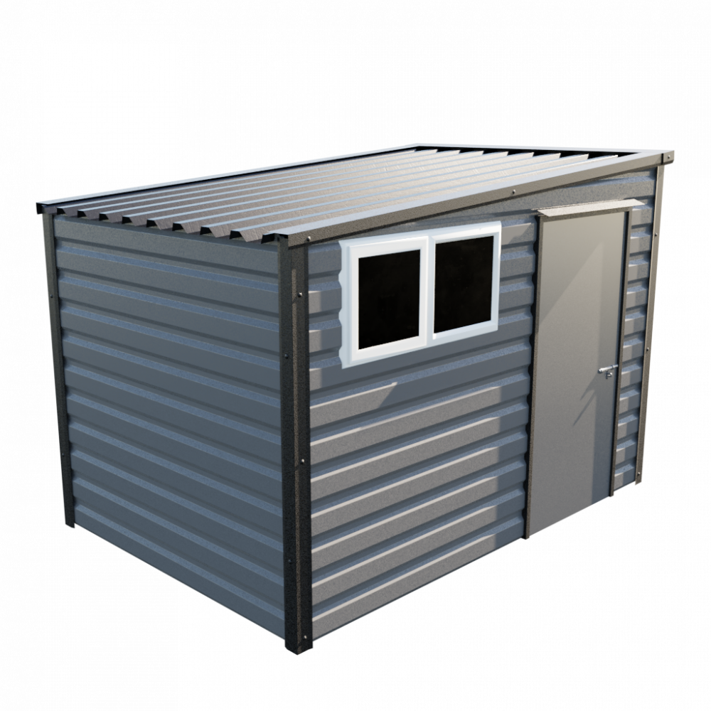 """10'2"""" x 7' Pent Shed - Anthracite"""