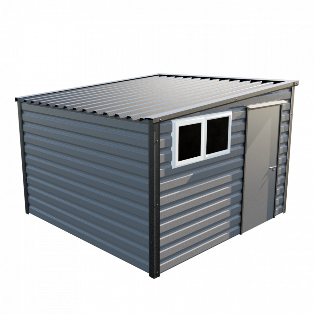 """10'2"""" x 10'2"""" Pent Shed - Anthracite"""