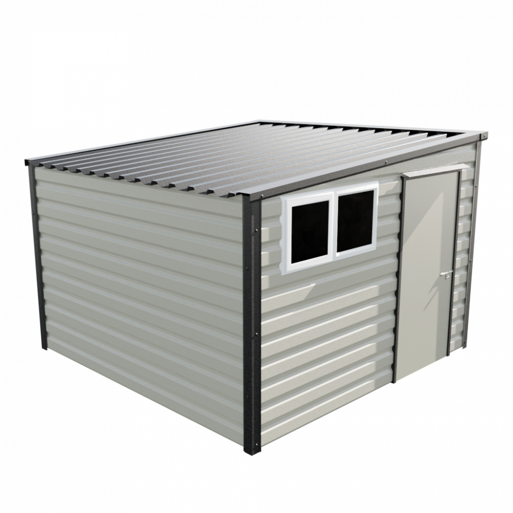 "10'2"" x 10'2"" Pent Shed - Goosewing Grey"