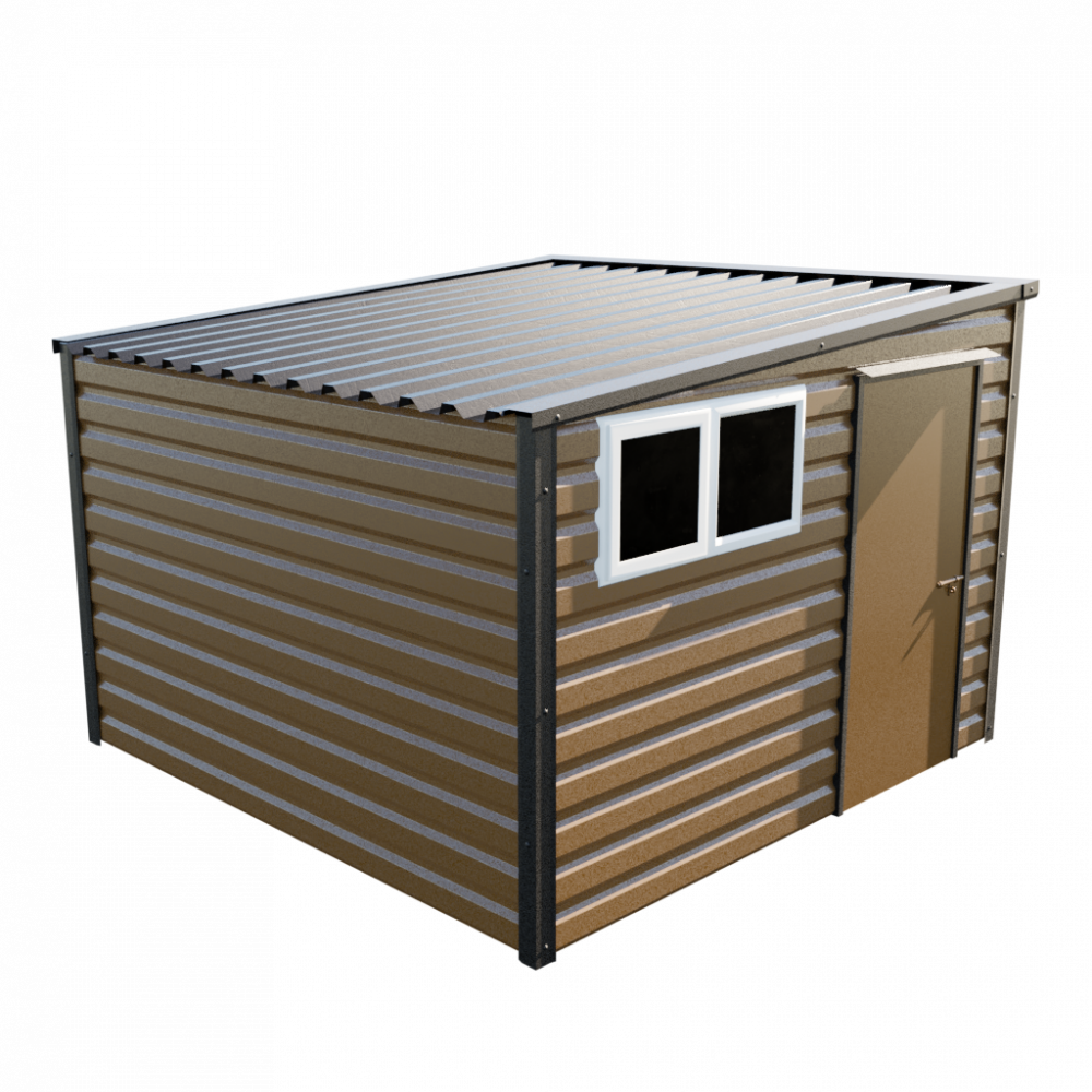 "10'2"" x 10'2"" Pent Shed - Vandyke Brown"