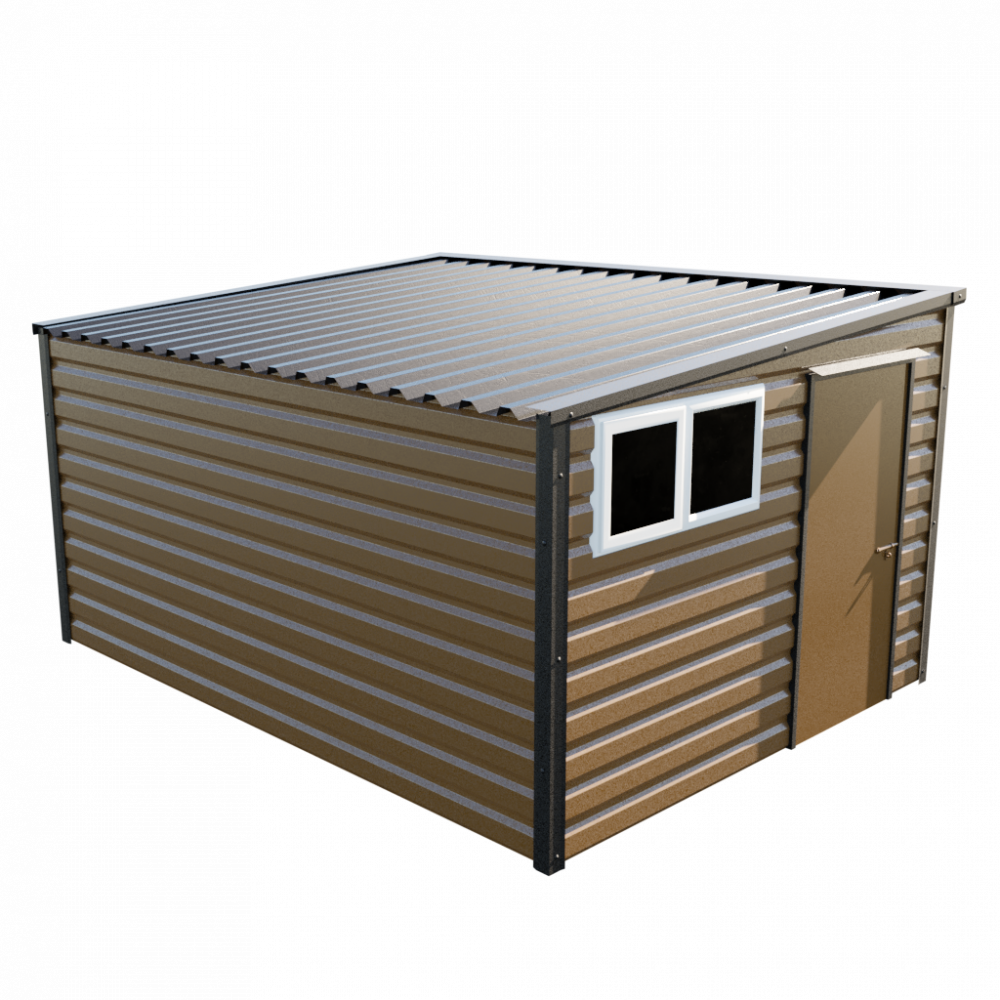"10'2"" x 13'6"" Pent Shed - Vandyke Brown"