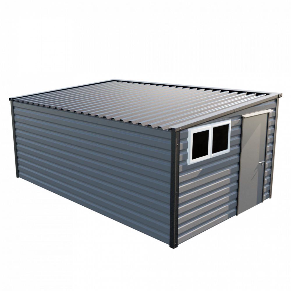 "10'2"" x 16'9"" Pent Shed - Anthracite"