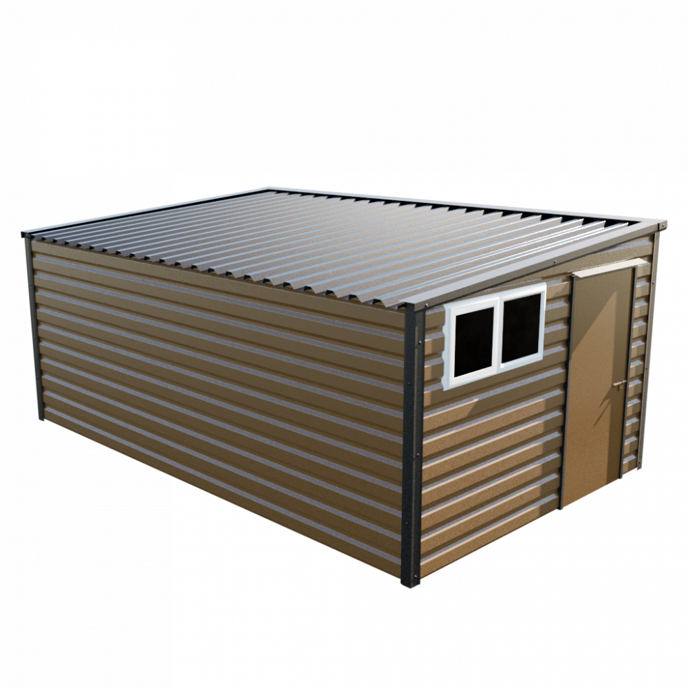 "10'2"" x 16'9"" Pent Shed - Vandyke Brown"