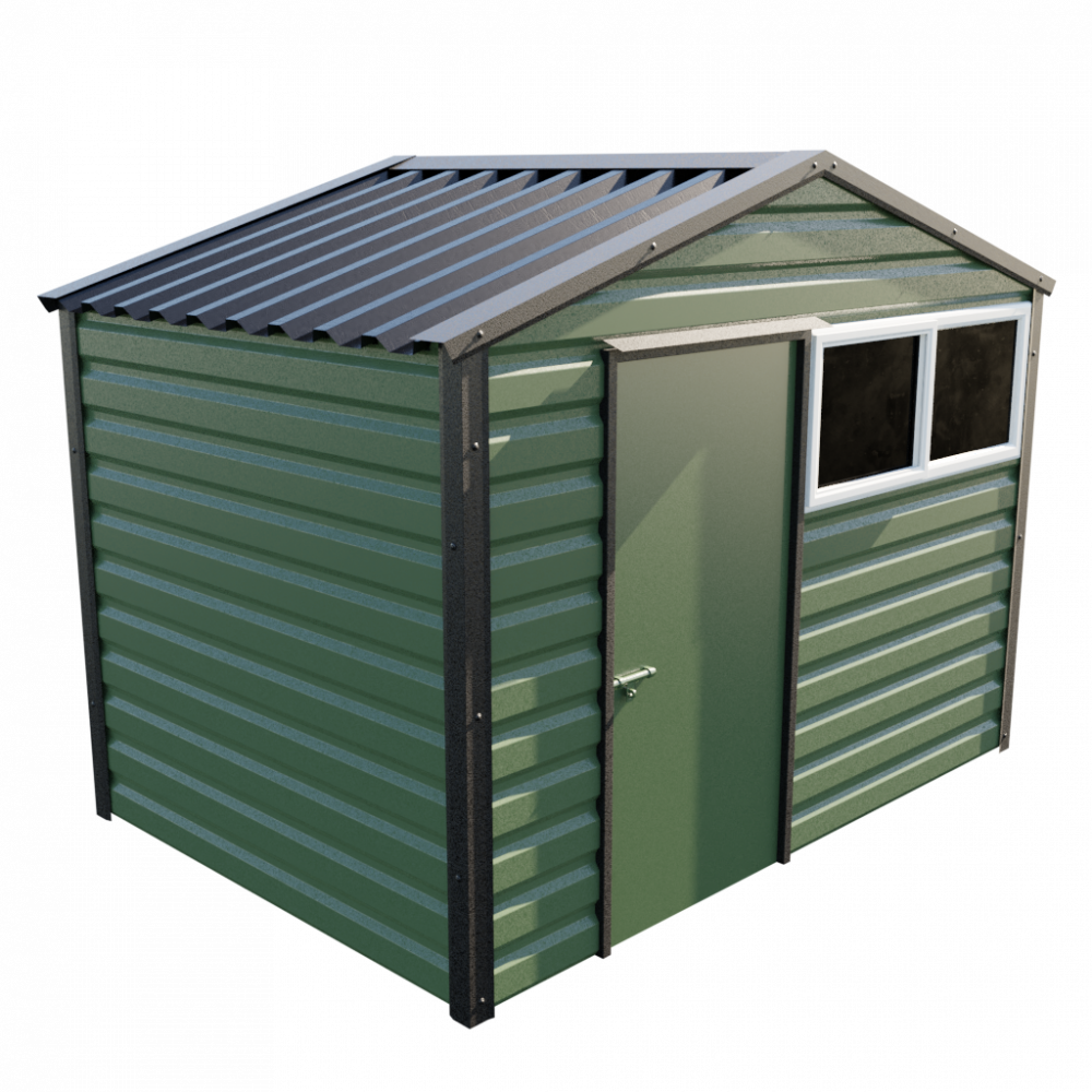 "10'2"" x 7' Apex Shed - Olive Green"