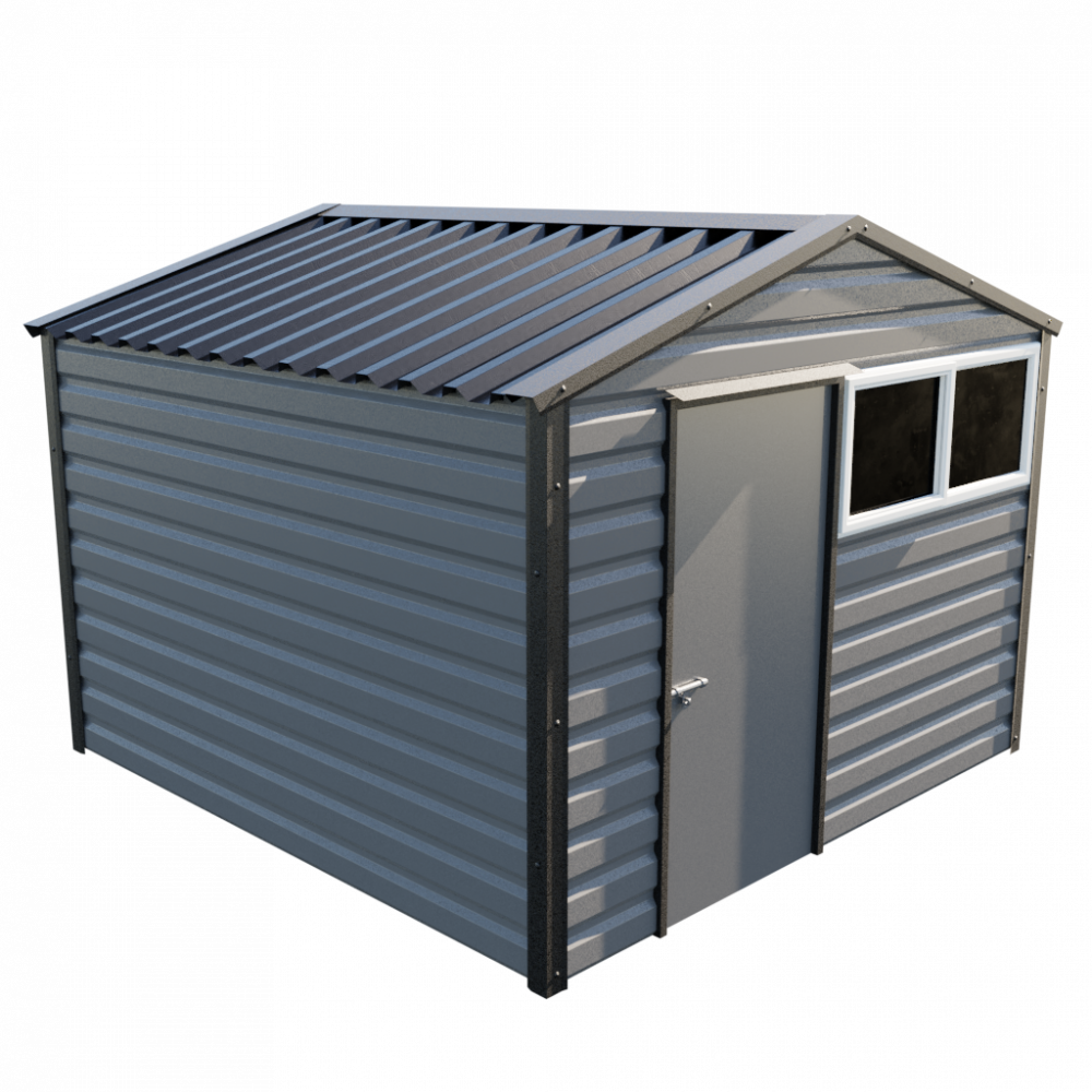 "10'2"" x 10'2"" Apex Shed - Anthracite"