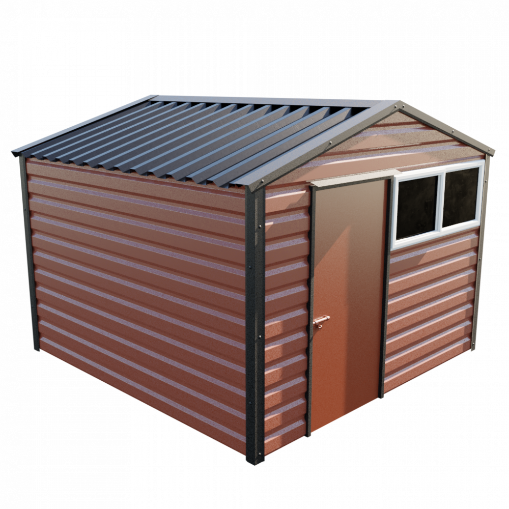 "10'2"" x 10'2"" Apex Shed - Terracotta"