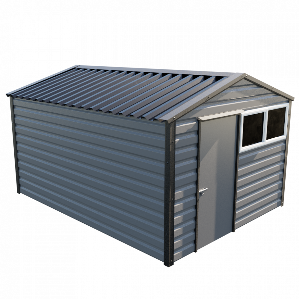 "10'2"" x 13'6"" Apex Shed - Anthracite"