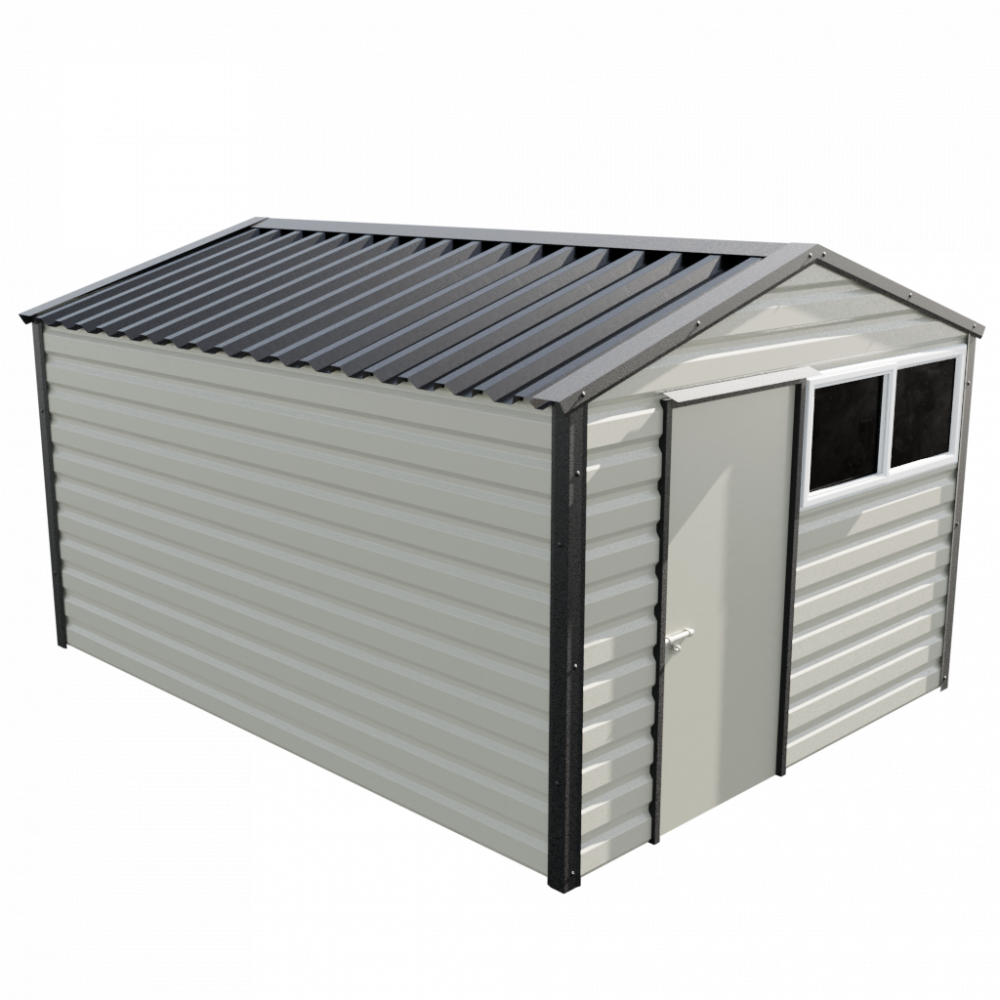 "10'2"" x 13'6"" Apex Shed - Goosewing Grey"