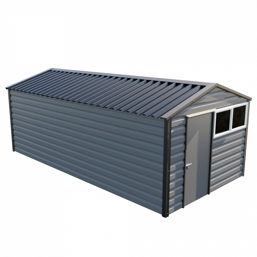 "10'2"" x 20' Apex Shed - Anthracite"