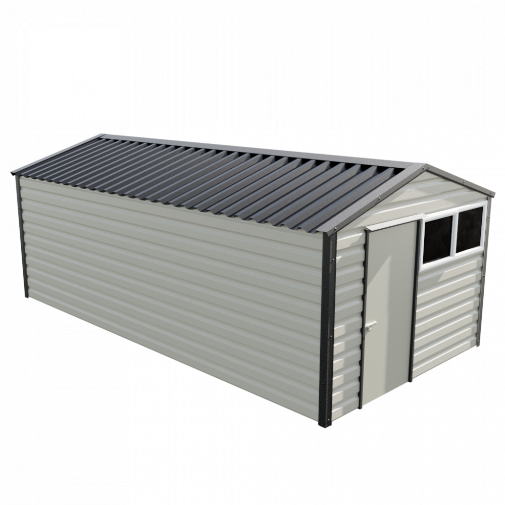 "10'2"" x 20' Apex Shed - Goosewing Grey"