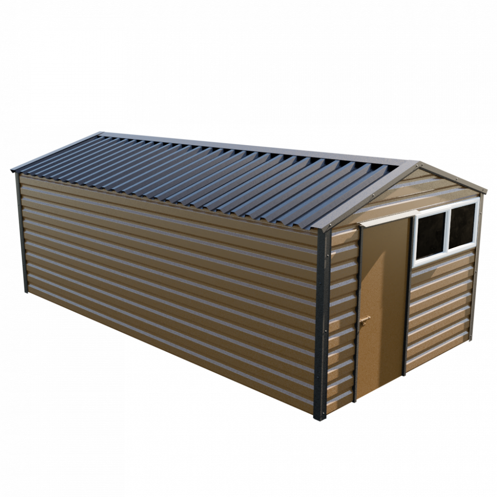 "10'2"" x 20' Apex Shed - Vandyke Brown"