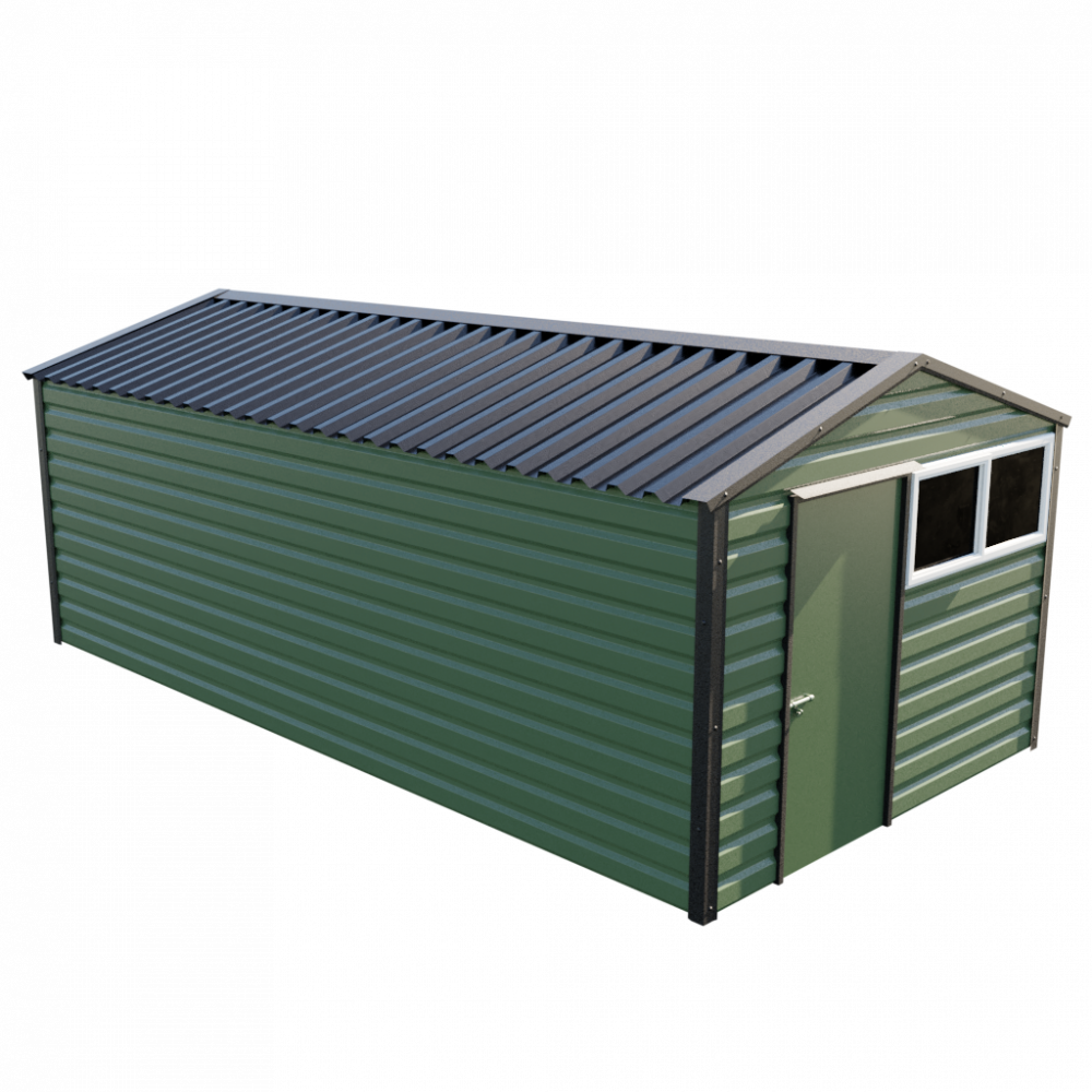 "10'2"" x 20' Apex Shed - Olive Green"