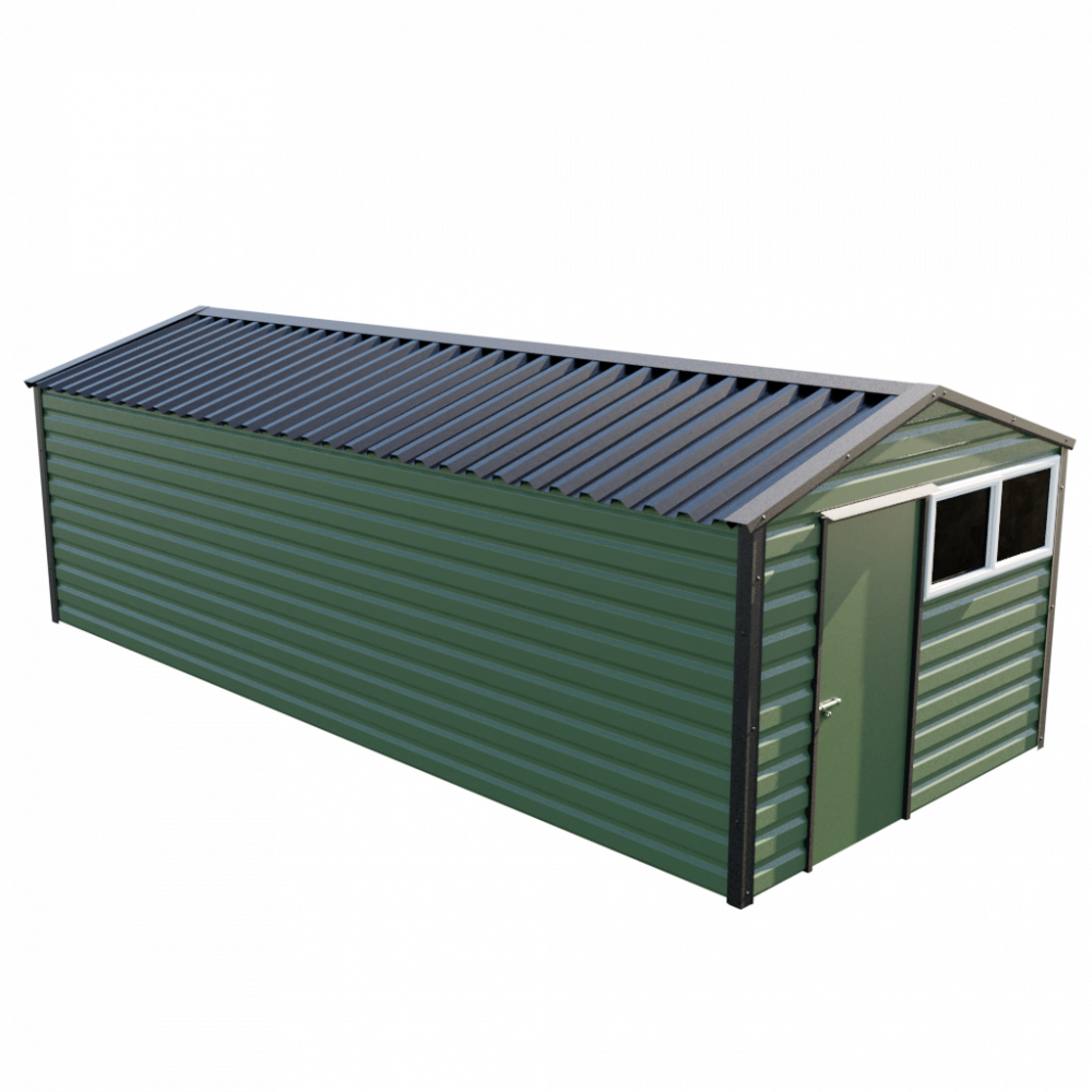 "10'2"" x 23'3"" Apex Shed - Olive Green"