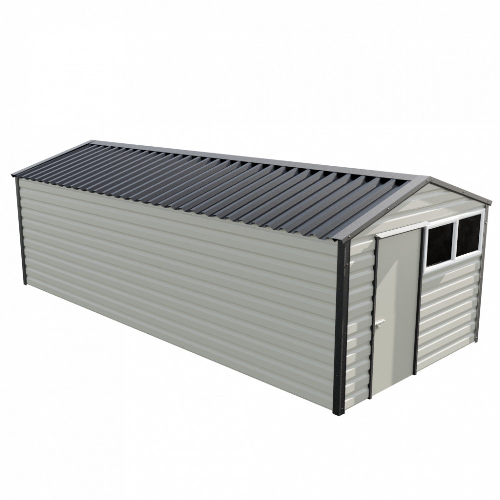 """10'2"""" x 23'3"""" Apex Shed - Goosewing Grey"""