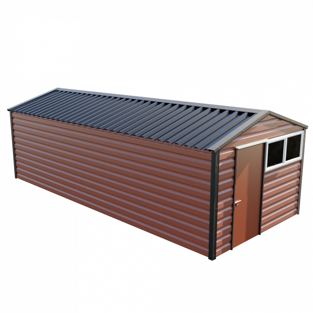 "10'2"" x 23'3"" Apex Shed - Terracotta"