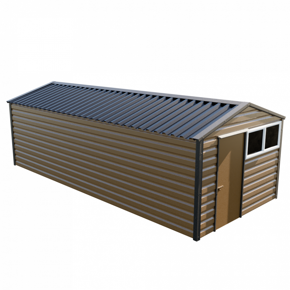 "10'2"" x 23'3"" Apex Shed - Vandyke Brown"