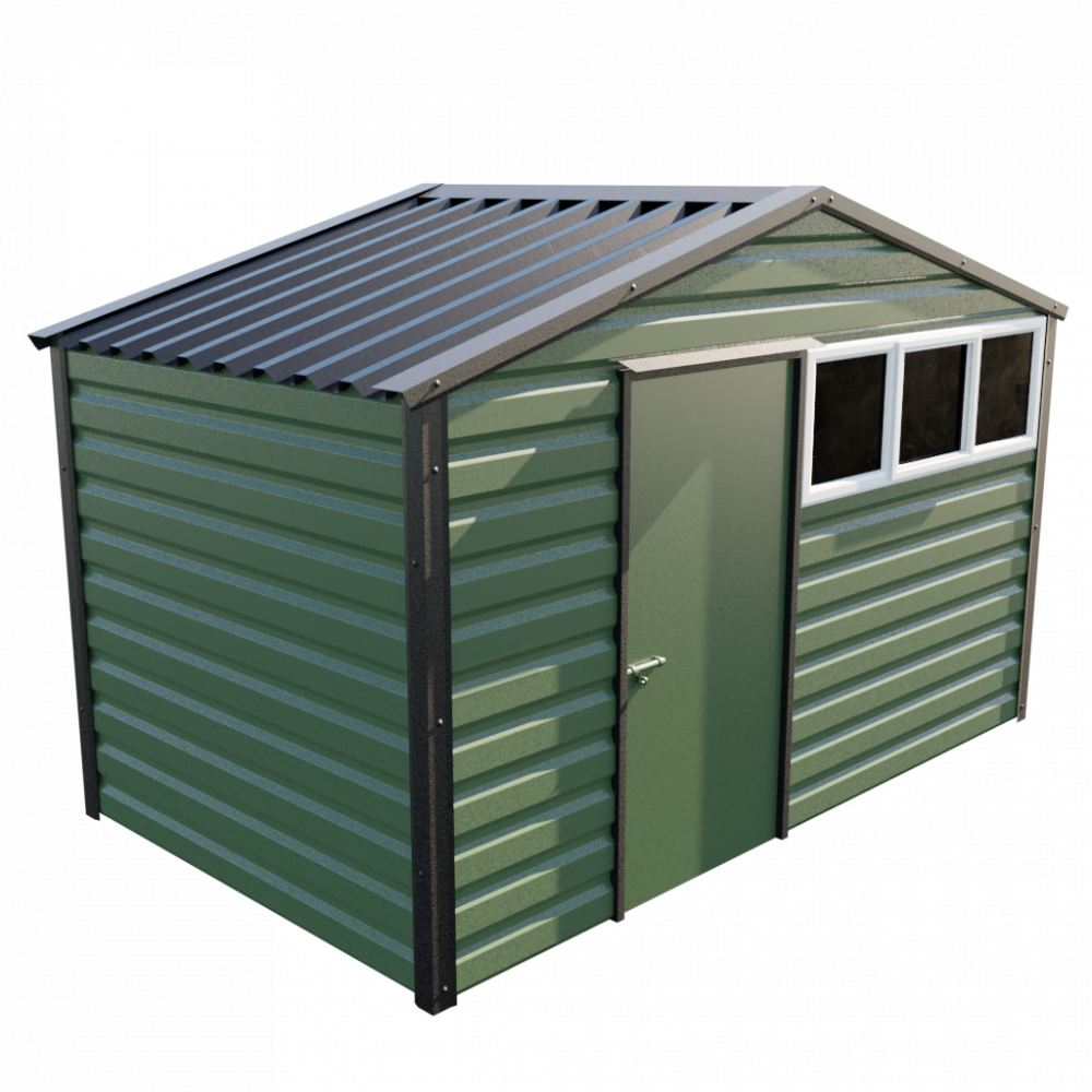 12' x 7' Apex Shed - Olive Green
