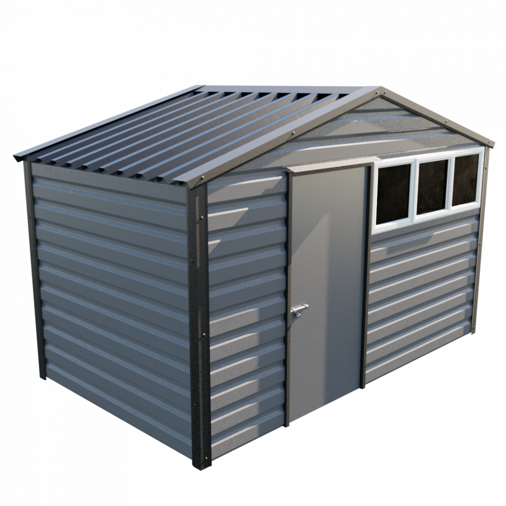 12' x 7' Apex Shed - Anthracite