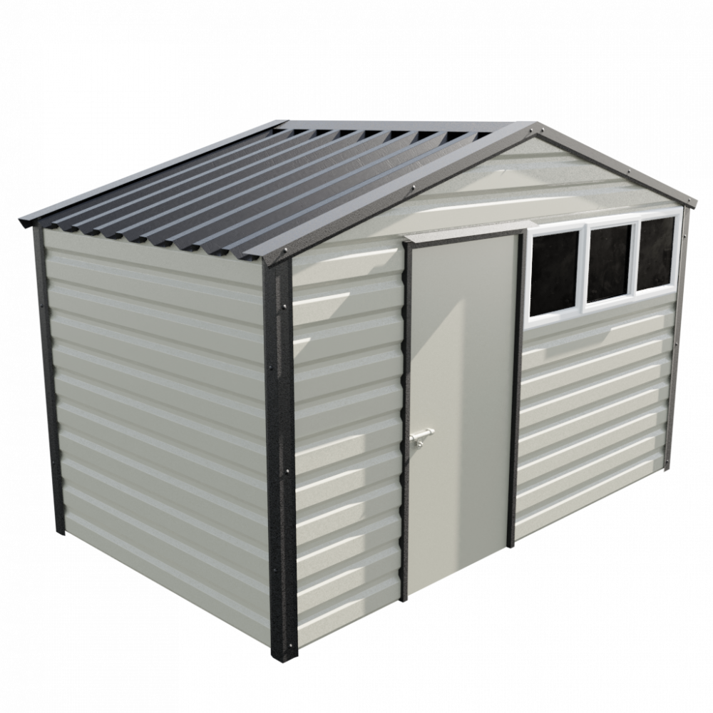12' x 7' Apex Shed - Goosewing Grey