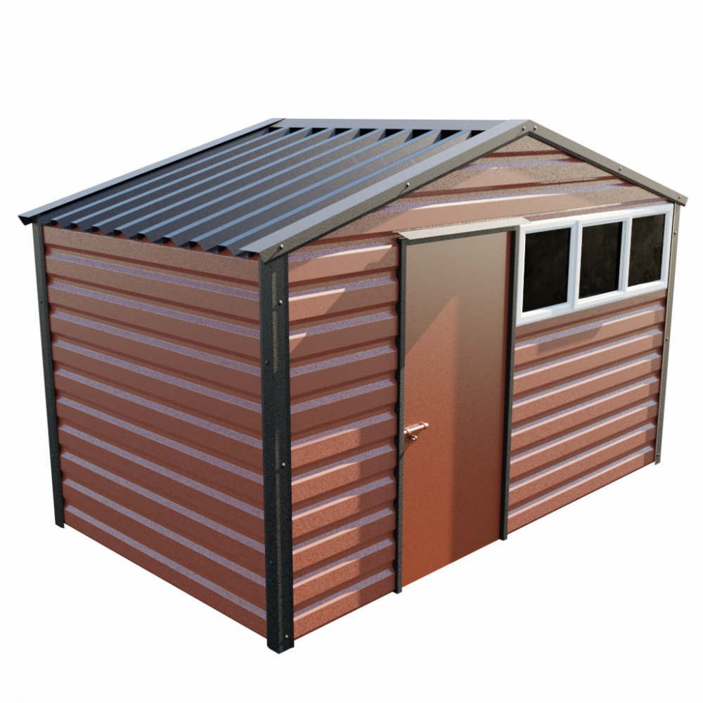 12' x 7' Apex Shed - Terracotta