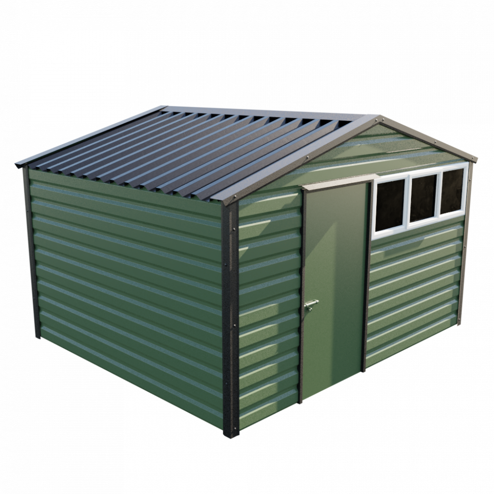 "12' x 10'3"" Apex Shed - Olive Green"