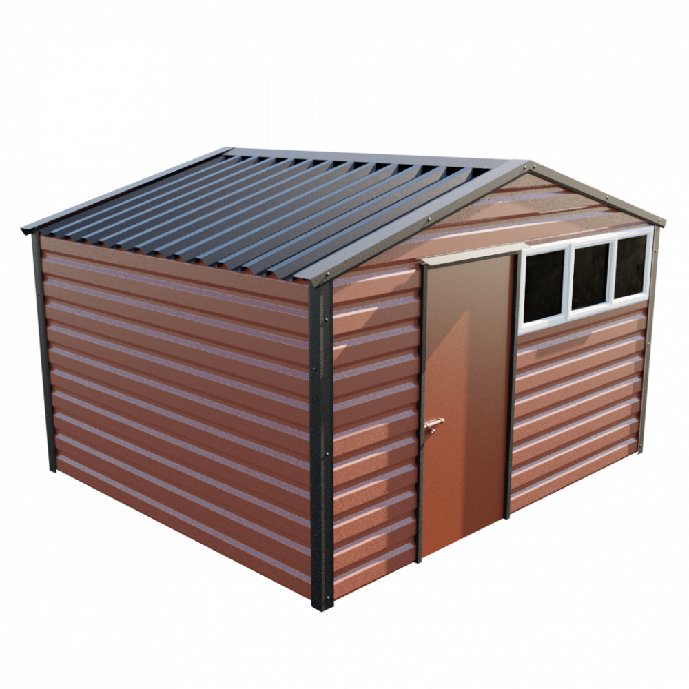"12' x 10'3"" Apex Shed - Terracotta"