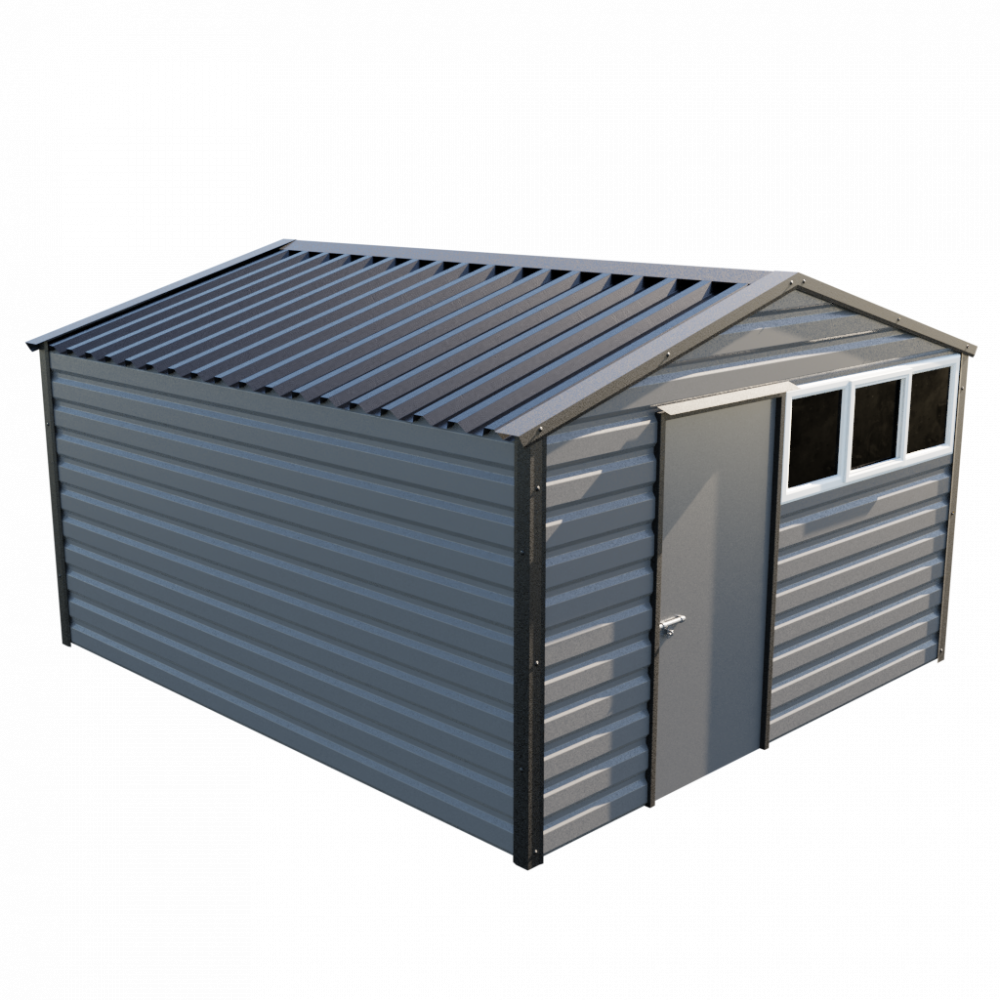 "12' x 13'6"" Apex Shed - Anthracite"