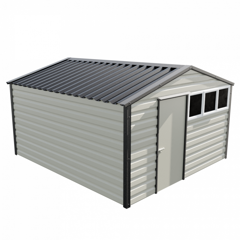 "12' x 13'6"" Apex Shed - Goosewing Grey"