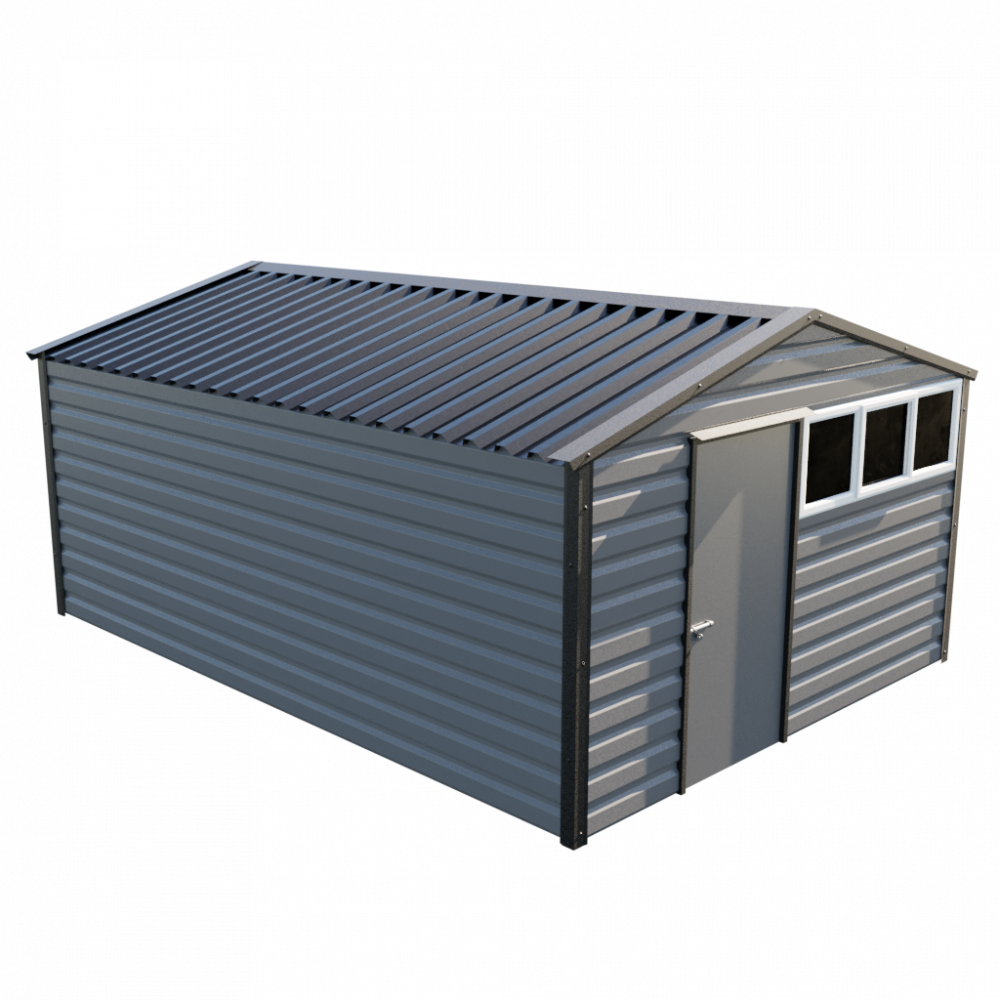 "12' x 16'9"" Apex Shed - Anthracite"