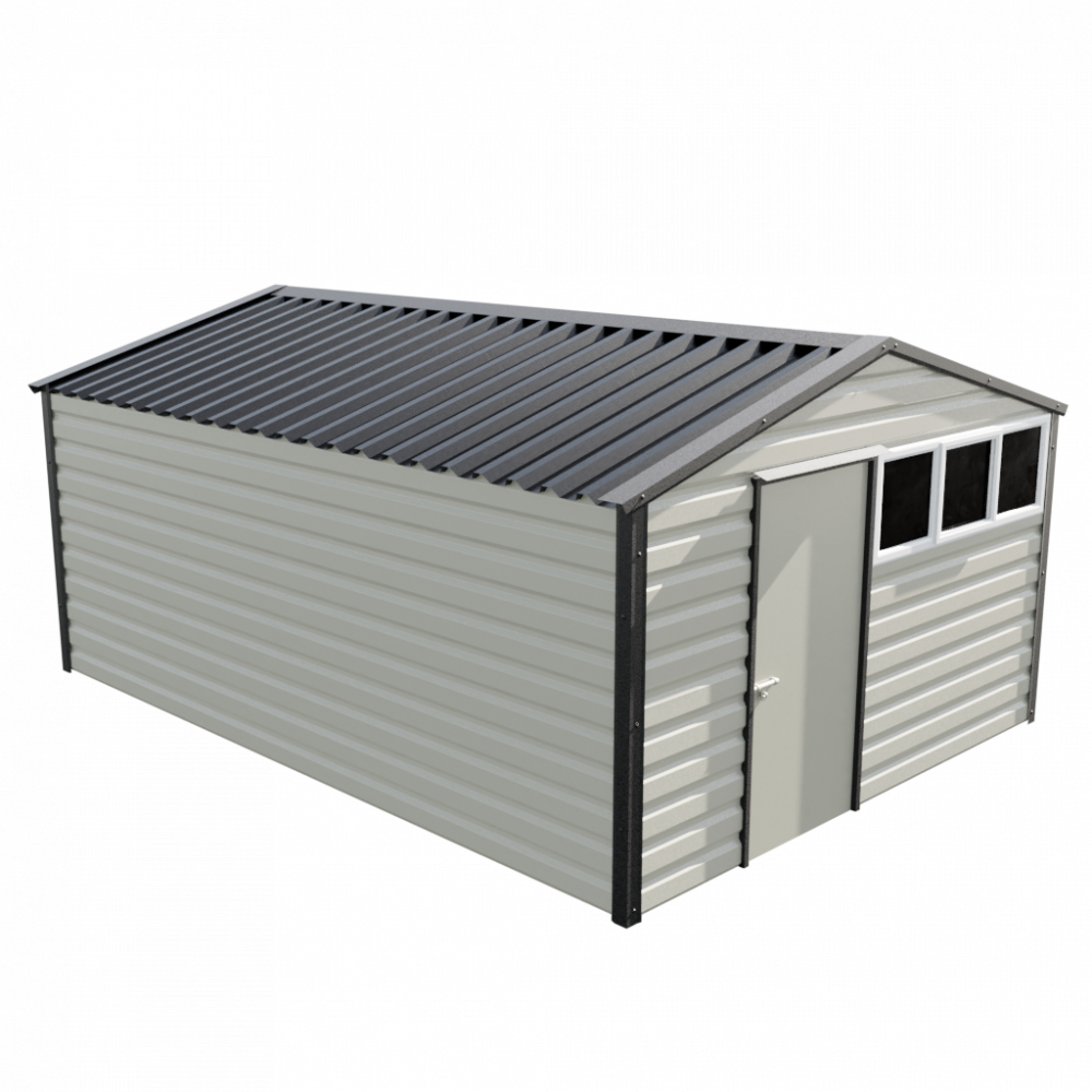 """12' x 16'9"""" Apex Shed - Goosewing Grey"""