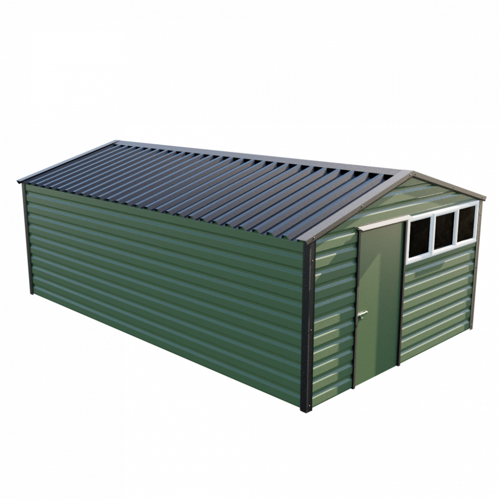 12' x 20' Apex Shed - Olive Green