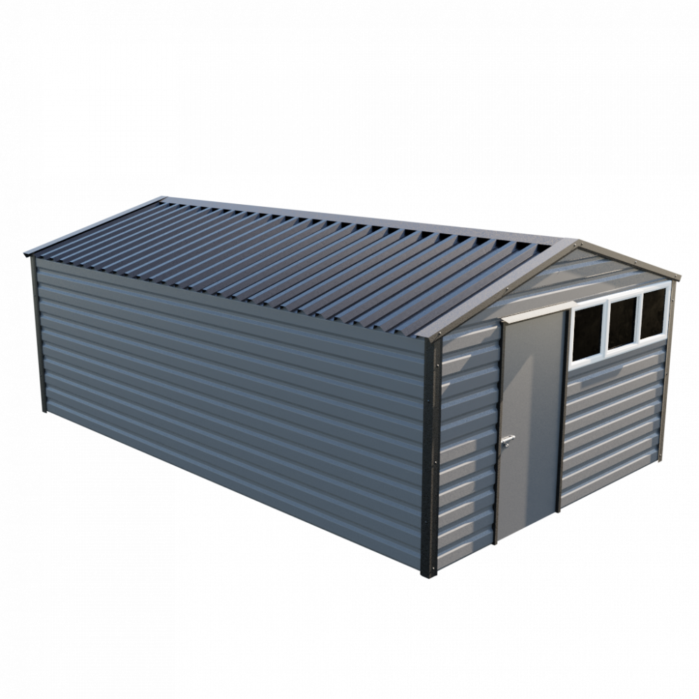 12' x 20' Apex Shed - Anthracite
