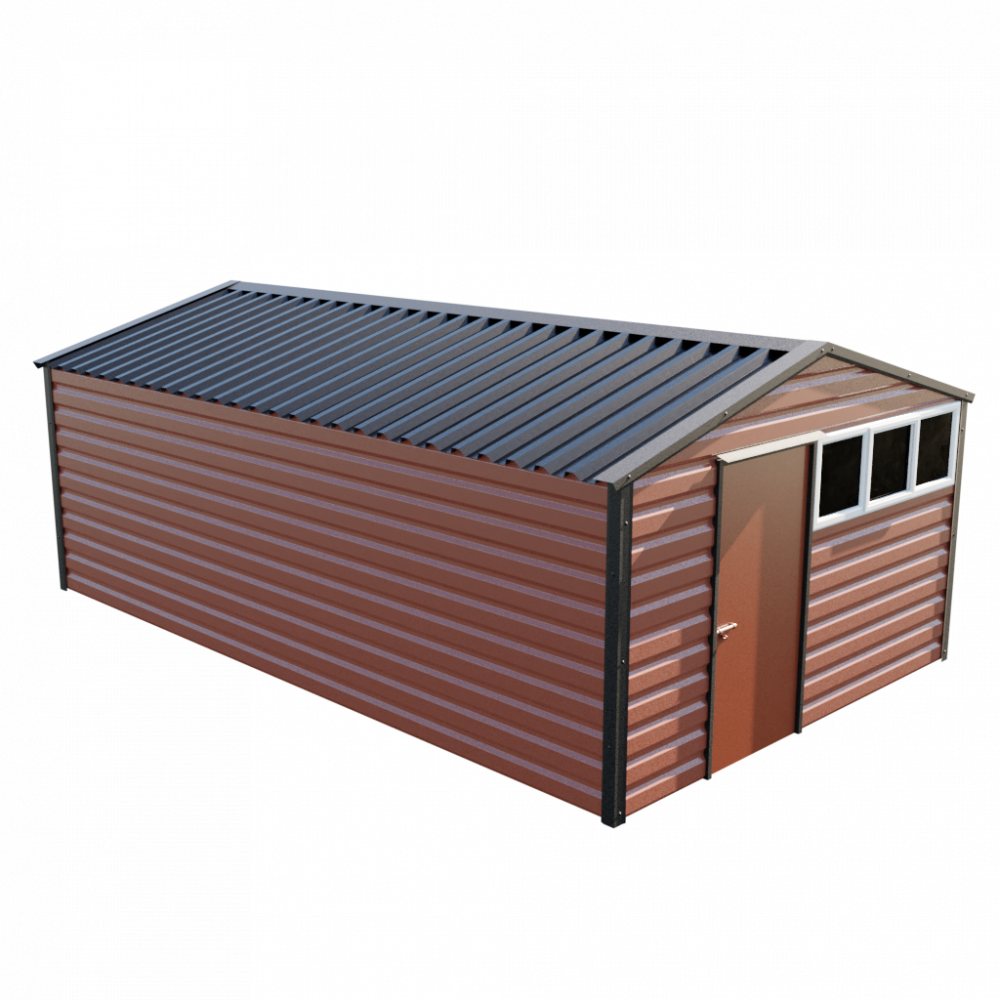 12' x 20' Apex Shed - Terracotta
