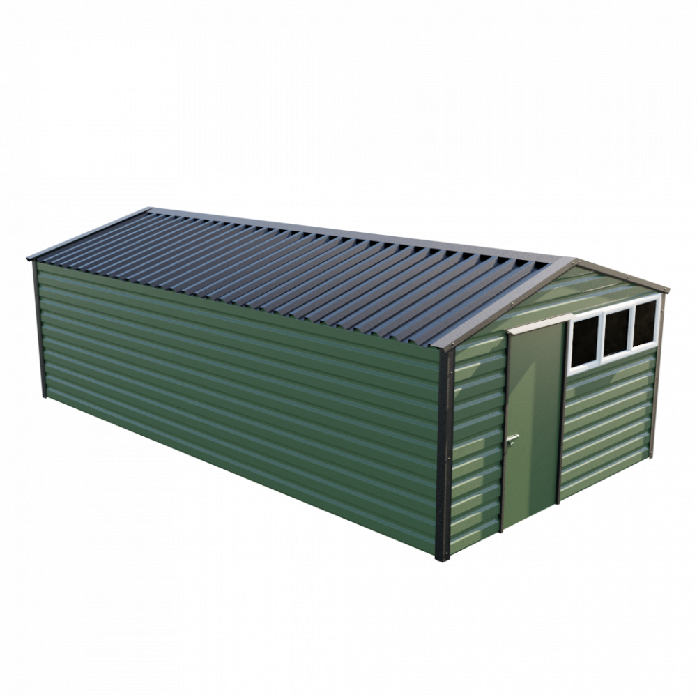 "12' x 23'3"" Apex Shed - Olive Green"