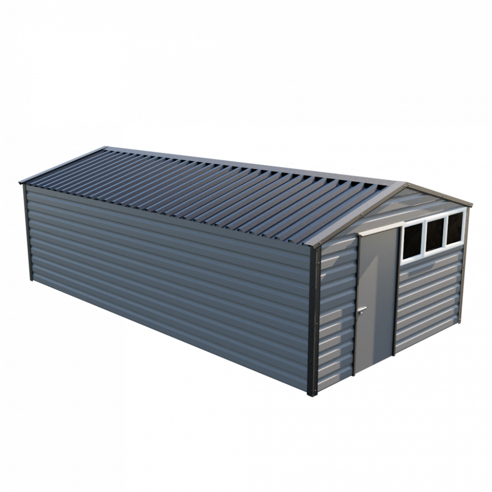 "12' x 23'3"" Apex Shed - Anthracite"