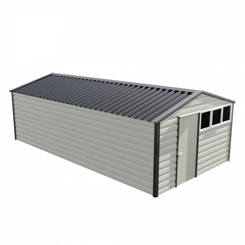 "12' x 23'3"" Apex Shed - Goosewing Grey"