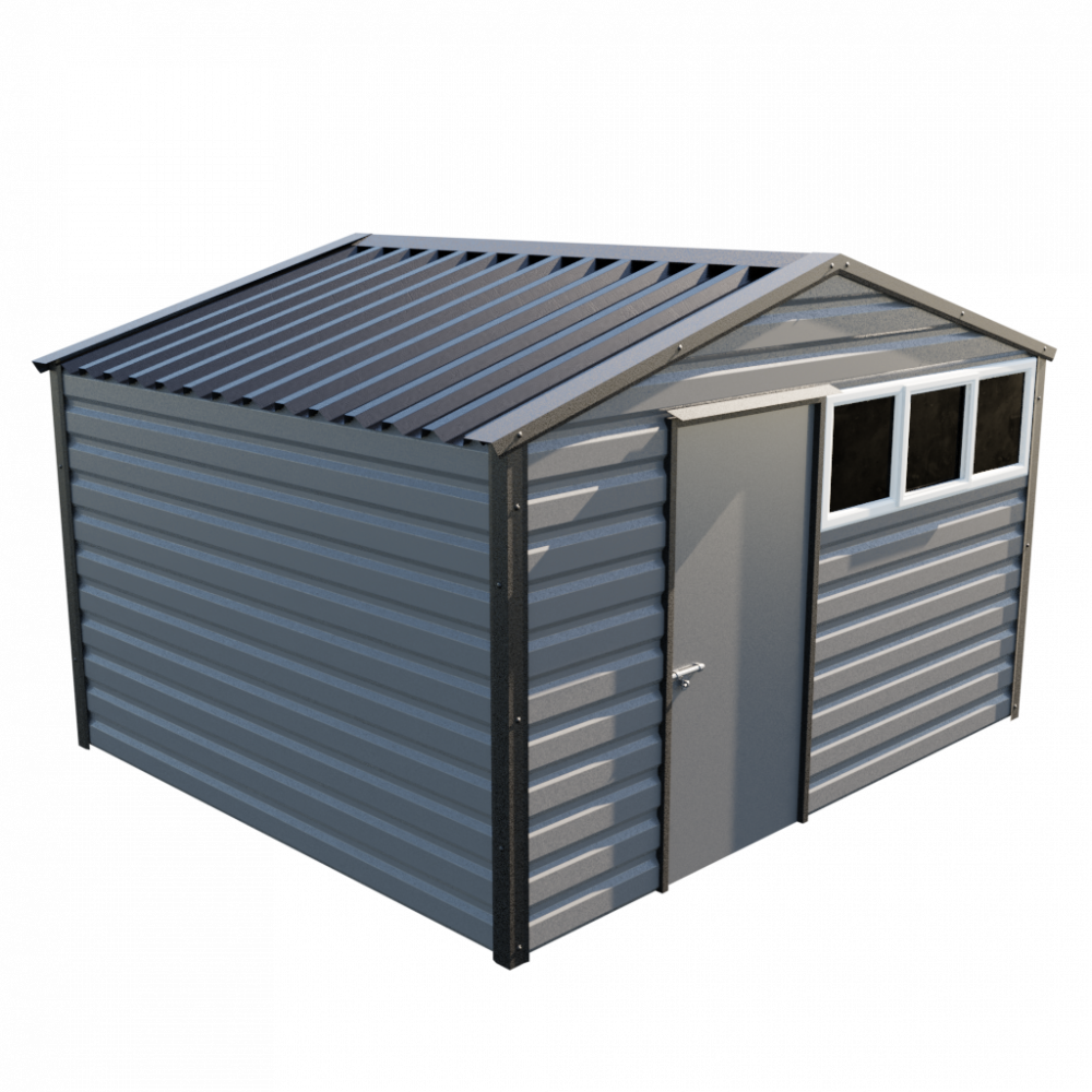 "12' x 10'3"" Apex Shed - Anthracite"